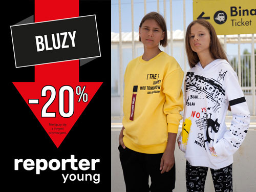 Reporter Young - Back To School! Rabat -50% na drugą rzecz!